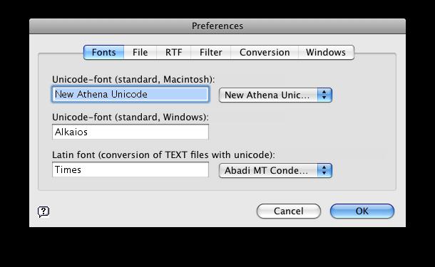 GreekKeys Unicode Conversion Instructions