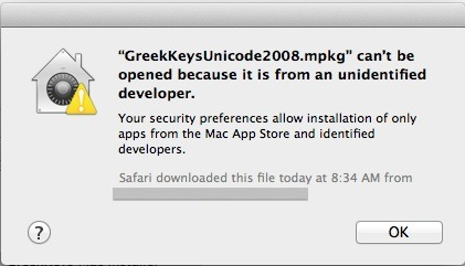 Installation and Activation of GreekKeys Unicode