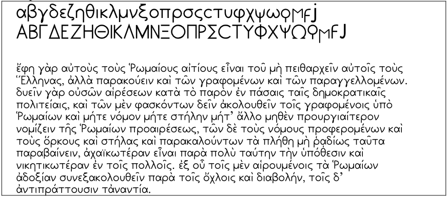 font sample AttikaU