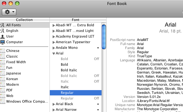 duplicates resolved in FontBook