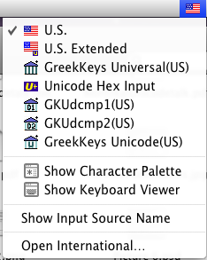 picture of Input Menu pane Mac